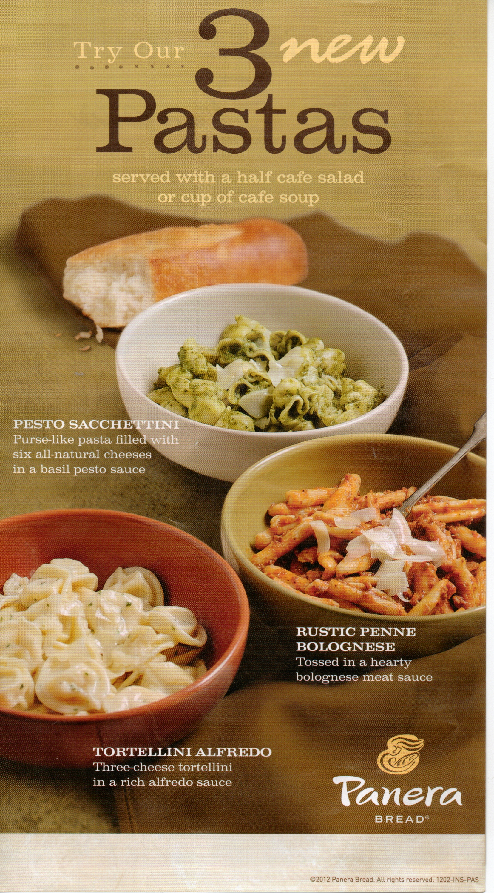 New Pasta At Panera Bread