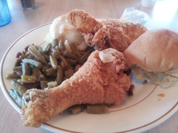 Fried Chicken at the Southside Restaurant, Limon, Colorado